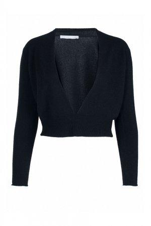 Черный пуловер из шерстяного трикотажа Fabiana Filippi. Цвет: черный
