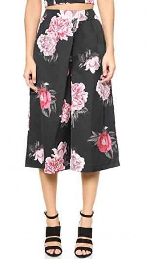 Юбка-брюки Lady Killer Cameo. Цвет: черный, букет