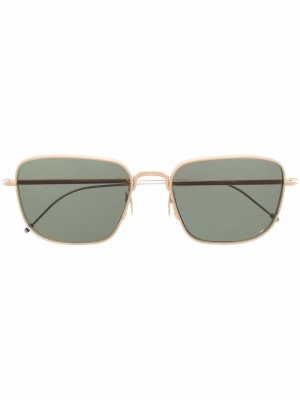 Солнцезащитные очки TBS124 в квадратной оправе Thom Browne Eyewear. Цвет: золотистый