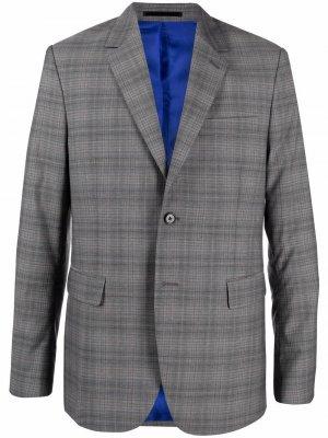 Пиджак в клетку PAUL SMITH. Цвет: серый