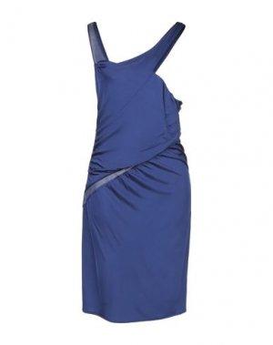 Короткое платье COSTUME NATIONAL. Цвет: синий