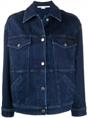 Джинсовая куртка с логотипом Stella McCartney. Цвет: синий