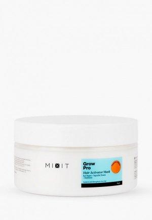 Маска для волос Mixit GROW PRO Разогревающая маска-активатор роста с красным перцем, растительным протеином и пантенолом, 200 мл. Цвет: прозрачный