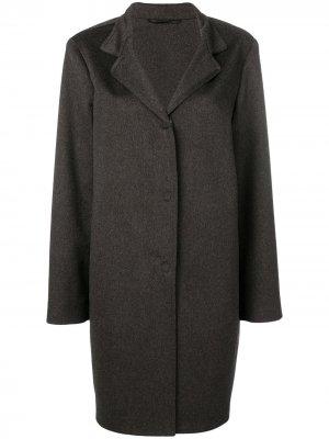 Однобортное пальто Liska. Цвет: коричневый