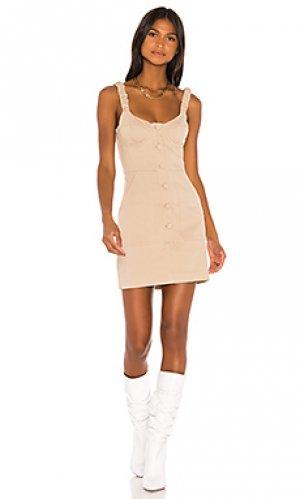Платье shae GRLFRND. Цвет: беж