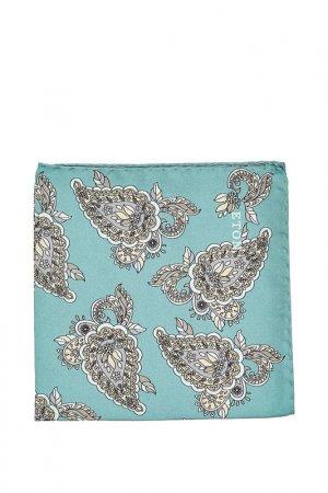 Карманный платок ETON. Цвет: серый, голубой, кремовый