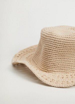 Ажурная вязаная шляпа ручной работы - Estival Mango. Цвет: экрю
