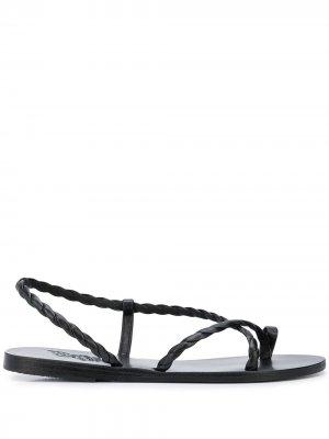 Сандалии с ремешками Ancient Greek Sandals. Цвет: черный
