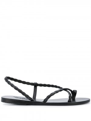 Woven strap sandals Ancient Greek. Цвет: черный