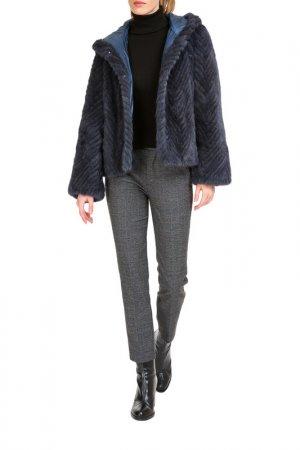 Short fur coat duble Manakas Frankfurt. Цвет: blue