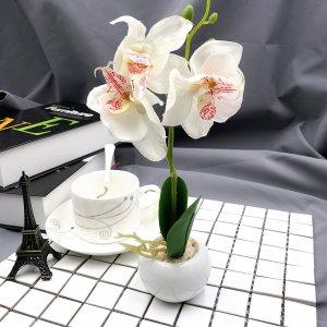 Искусственный горшечный цветок SHEIN. Цвет: лиловый фиолетовый