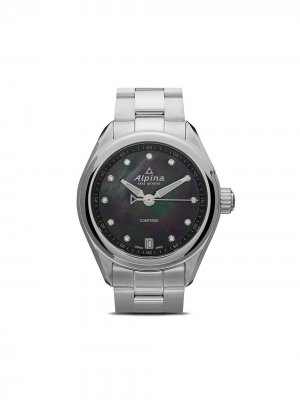 Наручные часы Comtesse 34 мм Alpina. Цвет: черный