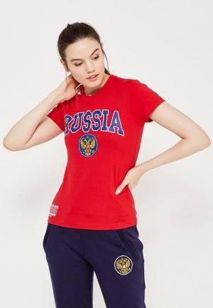 Футболка Atributika & Club™ Russia. Цвет: красный