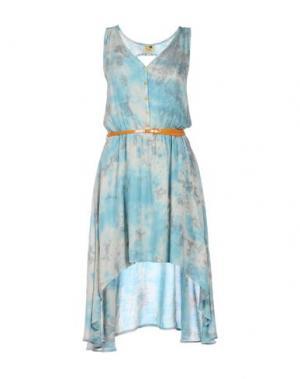 Короткое платье KHUJO. Цвет: небесно-голубой