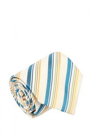Галстук Basile. Цвет: песочный, голубой, оранжевый