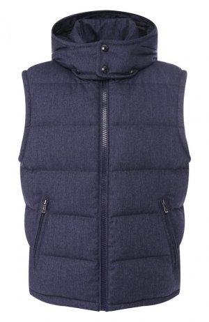 Пуховый жилет из шерсти Ralph Lauren. Цвет: синий