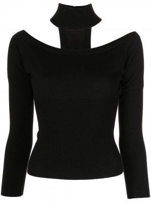 Пуловер Lila с открытыми плечами Jonathan Simkhai. Цвет: черный