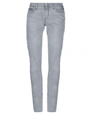 Джинсовые брюки MELTIN POT. Цвет: серый