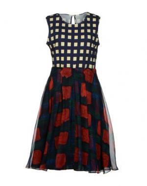 Платье до колена EGGS. Цвет: темно-синий