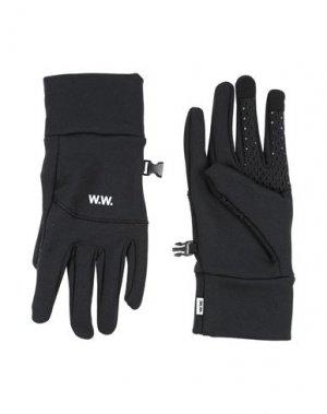 Перчатки WOOD. Цвет: черный
