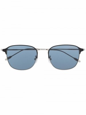 Солнцезащитные очки в квадратной оправе Montblanc. Цвет: серебристый