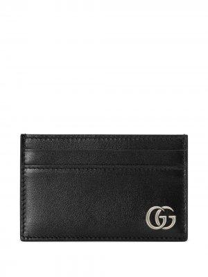 Картхолдер с логотипом Interlocking GG Gucci. Цвет: черный
