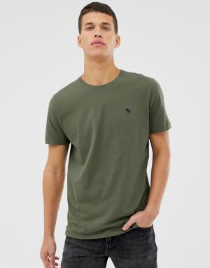 Темно-зеленая футболка с логотипом Abercrombie & Fitch. Цвет: зеленый