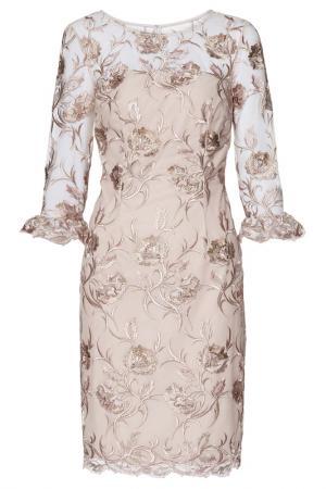 Платье Gina Bacconi. Цвет: pink, gold