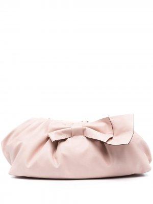 Клатч с бантом RED Valentino. Цвет: розовый