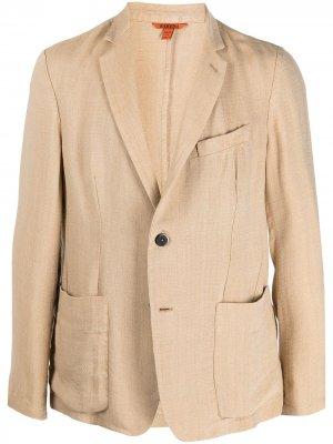 Однобортный пиджак строгого кроя Barena. Цвет: нейтральные цвета