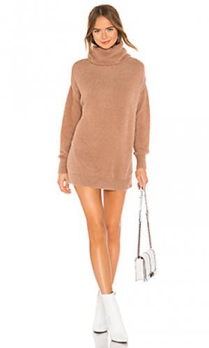 Пуловер с высоким воротом webster Tularosa. Цвет: коричневый