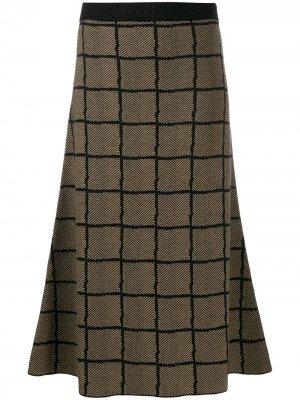 Длинная юбка А-силуэта Antonio Marras. Цвет: коричневый