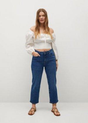 Укороченные джинсы straight - Elia Mango. Цвет: синий средний