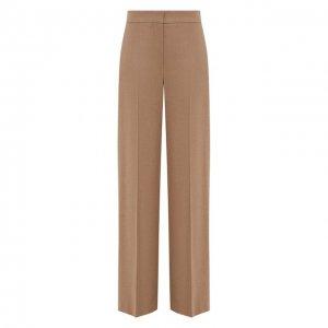 Шерстяные брюки Alexander McQueen. Цвет: бежевый