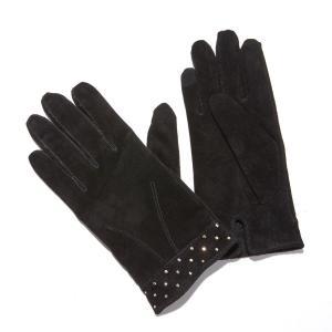 Перчатки кожаные с заклепками LA REDOUTE COLLECTIONS. Цвет: черный