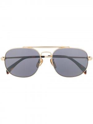 Солнцезащитные очки 7004/S в квадратной оправе Eyewear by David Beckham. Цвет: черный