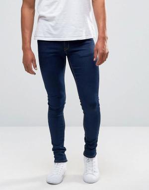 Синие джинсы скинни ASOS DESIGN. Цвет: синий