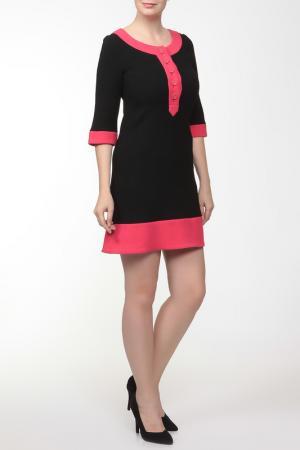 Платье Gio Guerreri. Цвет: черный, розовый