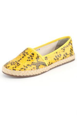 Балетки Cravo & Canela. Цвет: желтый