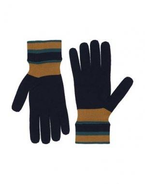Перчатки DOLCE & GABBANA. Цвет: темно-синий