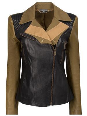 Кожаная куртка Alexander McQueen. Цвет: разноцветный