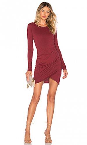Платье с запахом Bobi. Цвет: красное вино
