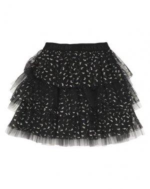 Мини-юбка ANIYE BY. Цвет: черный