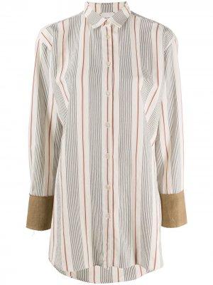 Рубашка в полоску Alysi. Цвет: нейтральные цвета