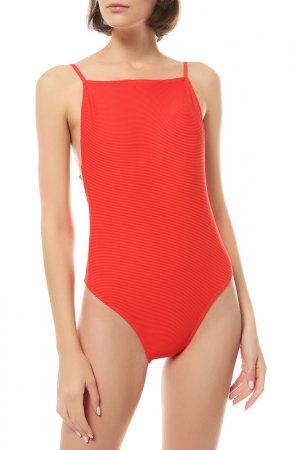 Слитный купальник Billabong. Цвет: красный