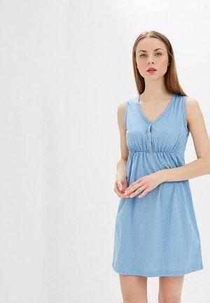 Сорочка ночная Hunny mammy. Цвет: голубой