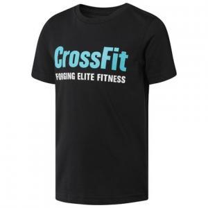 Футболка для мальчиков CrossFit Reebok. Цвет: black