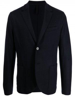 Однобортный шерстяной пиджак Harris Wharf London. Цвет: синий