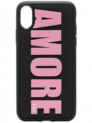Чехол Amore для iPhone X Dolce & Gabbana. Цвет: черный