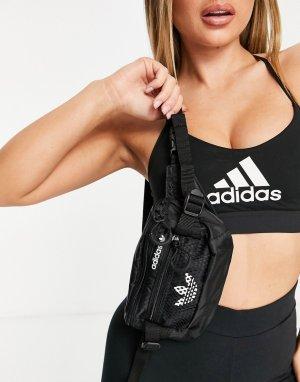 Черная спортивная сумка-кошелек на пояс с логотипом Reebok-Черный adidas performance